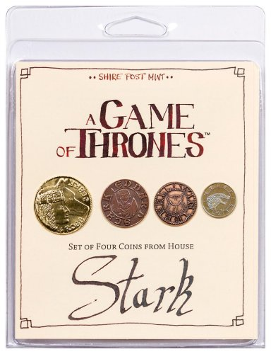 Set of 4 Fantasy Coins - A Game of Thrones House Stark Original Packaging