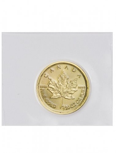 2018 Canada 1/20 oz Gold Maple Leaf $1 Coin GEM BU Mint Sealed