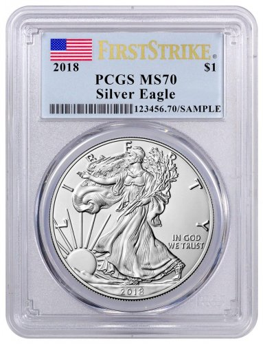 2018 1 Dollar Oz Silver Eagle Ngc Ms70 Early Releases Label Black