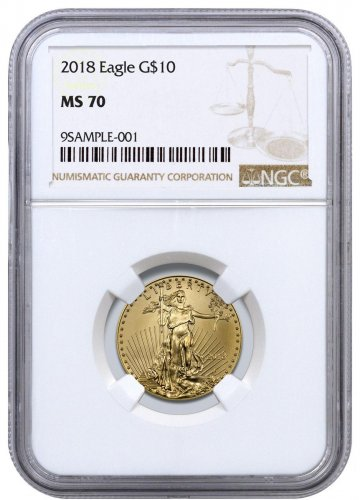 2018 1/4 oz Gold American Eagle $10 NGC MS70