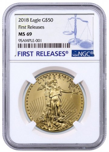 2018 1 oz Gold American Eagle $50 NGC MS69 FR