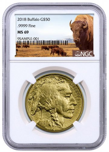 2018 1 oz Gold Buffalo $50 Coin NGC MS69 Buffalo Label
