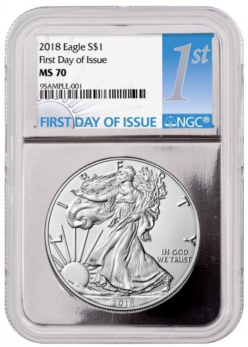 2018 American Silver Eagle Ngc Ms70 First Day Of Issue