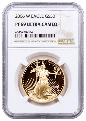 2006-W 1 oz Gold American Eagle Proof $50 NGC PF69 UC