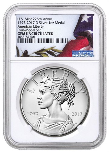 2017-D United States American Liberty 225th Anniversary 1 oz Medal NGC GEM Unc Liberty Label