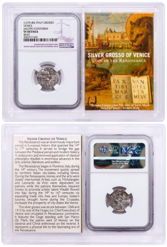 1268-1413 Italy Silver Grosso Venice-Renaissance NGC VF Story Vault