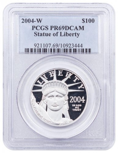 2004-W 1 oz Platinum American Eagle Proof $100 PCGS PR69 DCAM