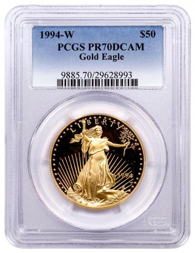 1994-W 1 oz Gold American Eagle Proof $50 PCGS PR70 DCAM