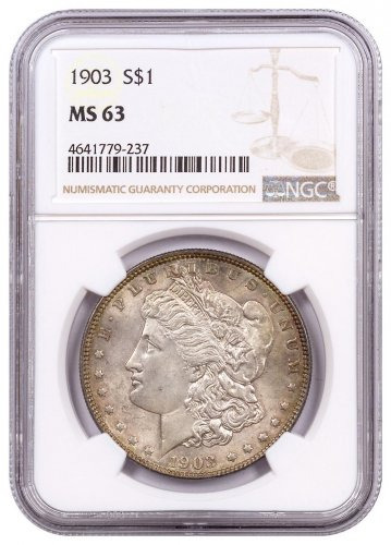 1903 Morgan Silver Dollar Toned NGC MS63
