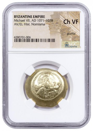 Byzantine Empire, Gold/Electrum Hist. Nomisma of Michael VII (AD 1071-1078) - NGC Ch.VF
