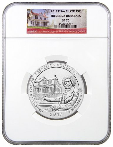 2017-P Frederick Douglass 5 oz. Silver America the Beautiful Specimen Coin NGC SP70