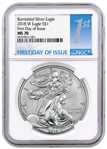 2018-W Burnished American Silver Eagle NGC MS70 FDI