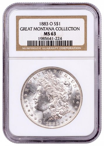 1883-O Morgan Silver Dollar From the Great Montana Collection NGC MS63