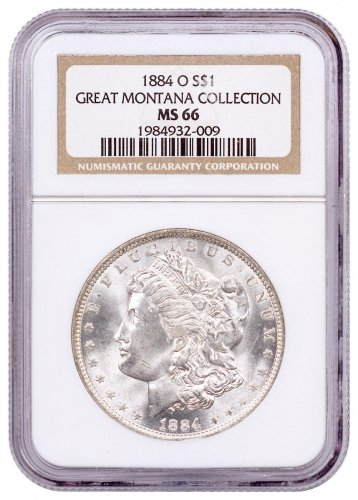 1884-O Morgan Silver Dollar From the Great Montana Collection NGC MS66