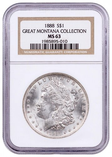 1888 Morgan Silver Dollar From the Great Montana Collection NGC MS63