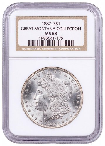1882 Morgan Silver Dollar From the Great Montana Collection NGC MS63