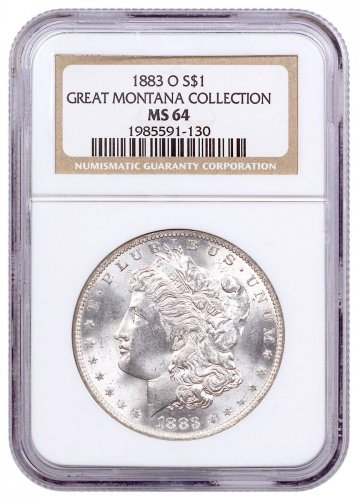 1883-O Morgan Silver Dollar From the Great Montana Collection NGC MS64