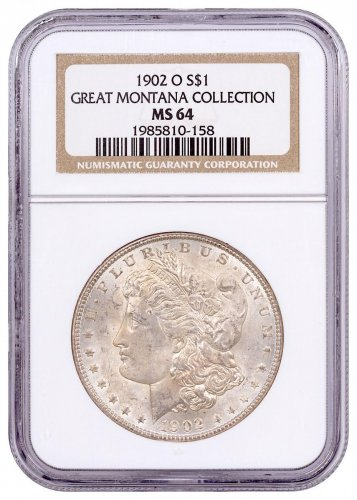 1902-O Morgan Silver Dollar From the Great Montana Collection NGC MS64