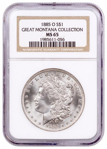 1885-O Morgan Silver Dollar From the Great Montana Collection NGC MS65