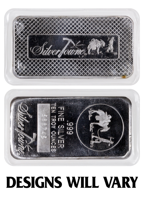 Private Mint Generic 10 Oz Silver Bar Moderncoinmart