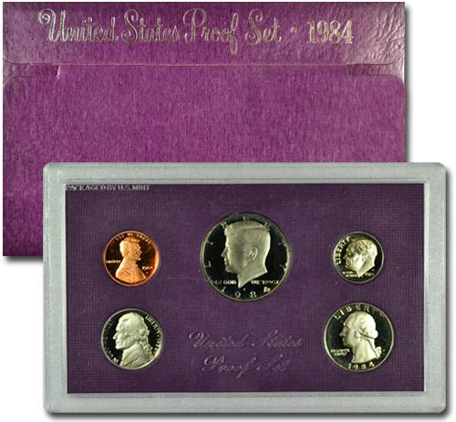 1984-S U.S. Proof Coin Set GEM Proof OGP
