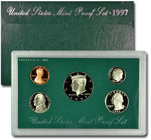 1997-S U.S. Proof Coin Set GEM Proof OGP