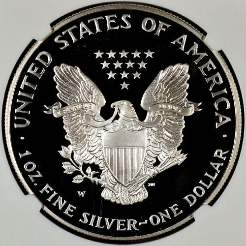 1995-W Silver Eagle NGC PF70 UC Proof 70 Ultra Cameo