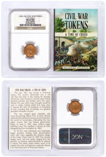 (1861-1865) United States Our Army Civil War Token NGC MS64 RD In Story Vault Holder