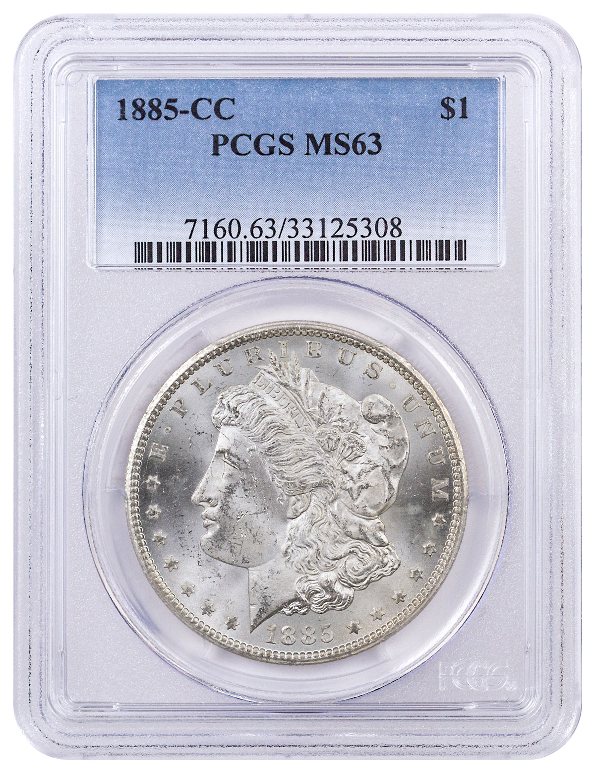 1885-CC Morgan Silver Dollar PCGS MS63