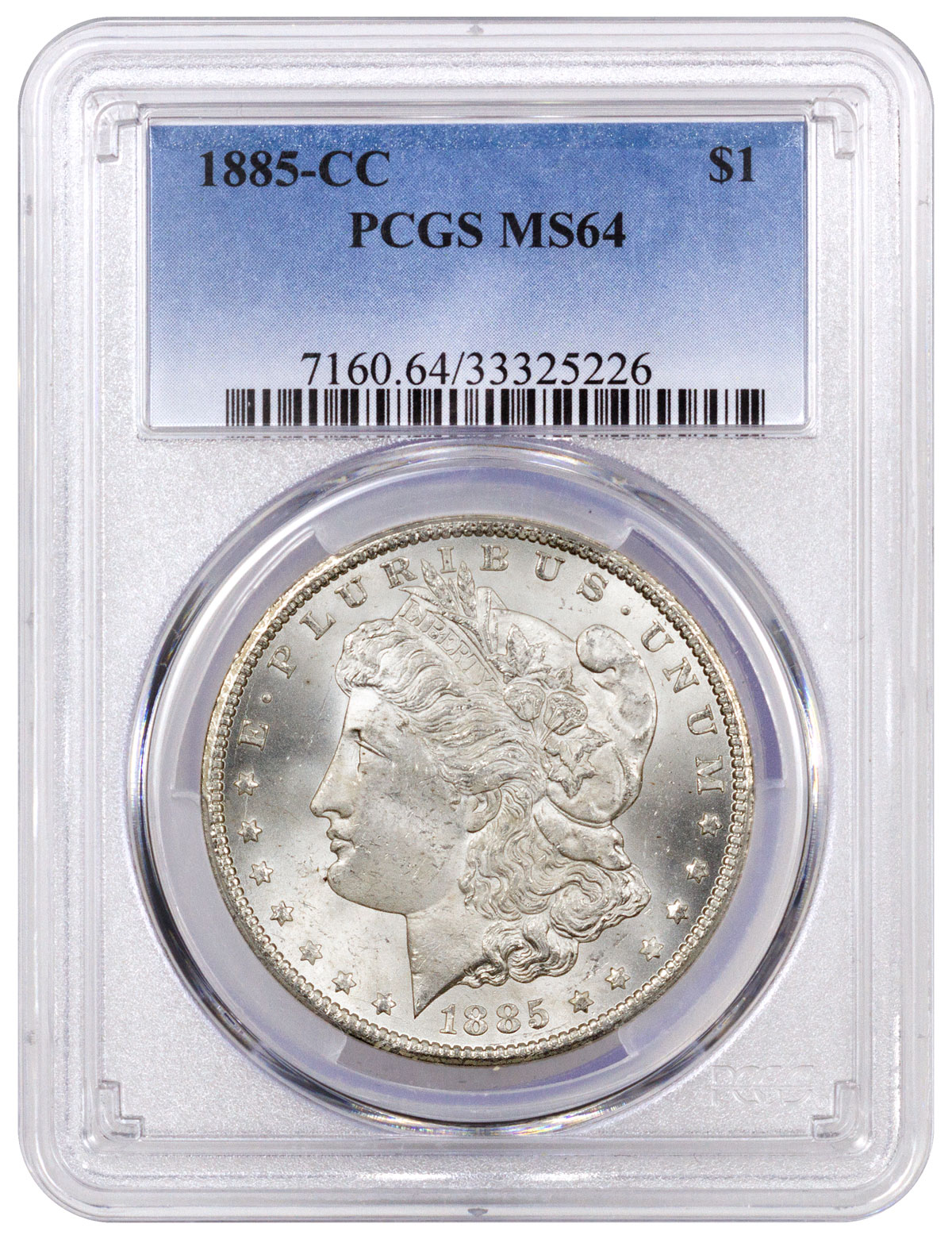 1885-CC Morgan Silver Dollar PCGS MS64