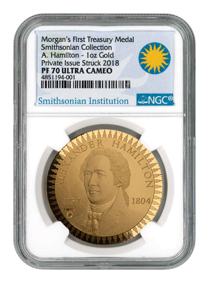 1903 United States Morgan Treasury 1 oz Gold Proof Pattern Scarce and Unique Coin Division NGC PF70 UC