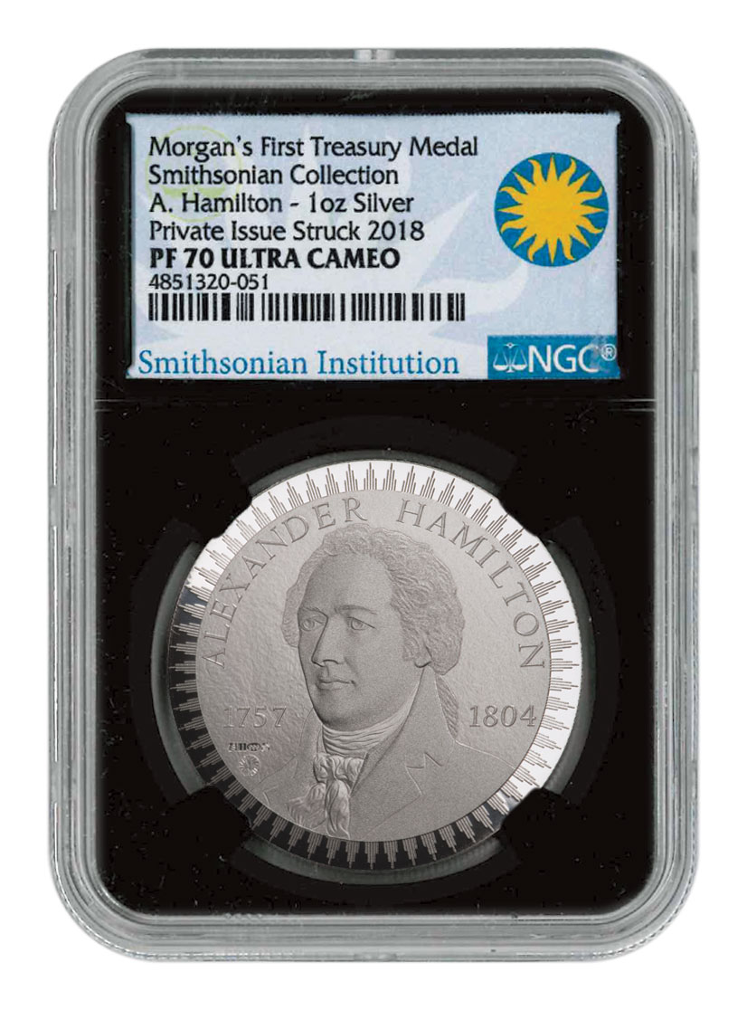 1903 Morgan Treasury 1 oz Silver Proof Pattern NGC PF70 UC Black Core Holder Exclusive Smithsonian Label