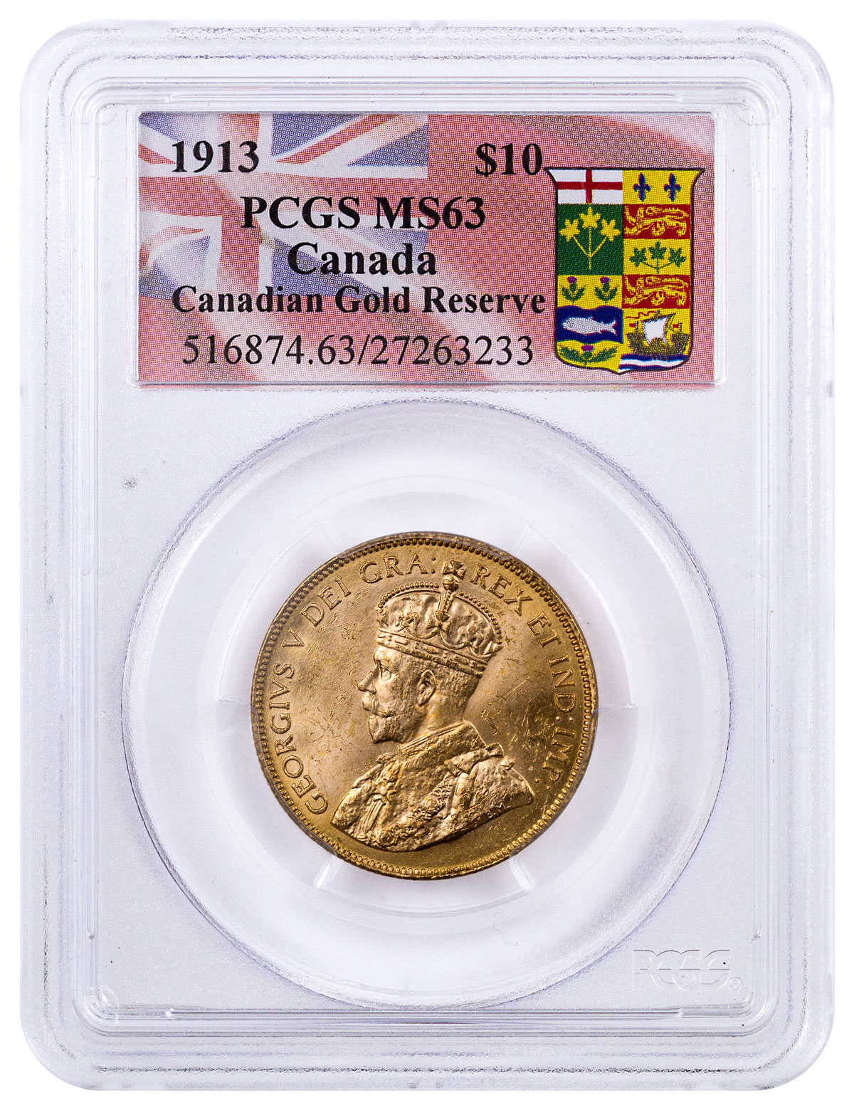10 Gold Smoky Eye Tutorials For Fall: 1913 Canada $10 Gold Reserve PCGS MS63 (Canada Gold