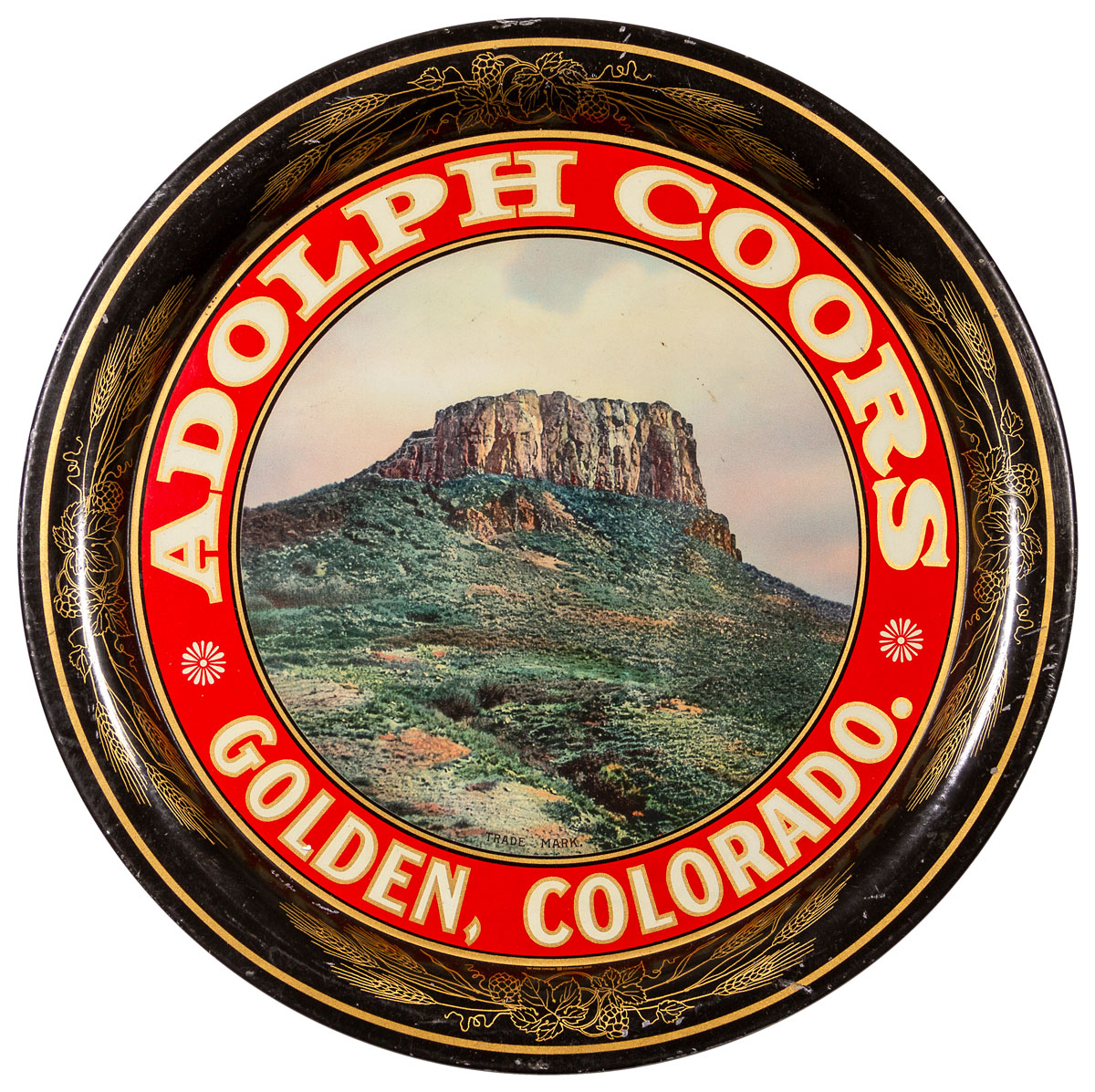 1920's Adolph Coors Pre Prohibition Beer Tray Excellent