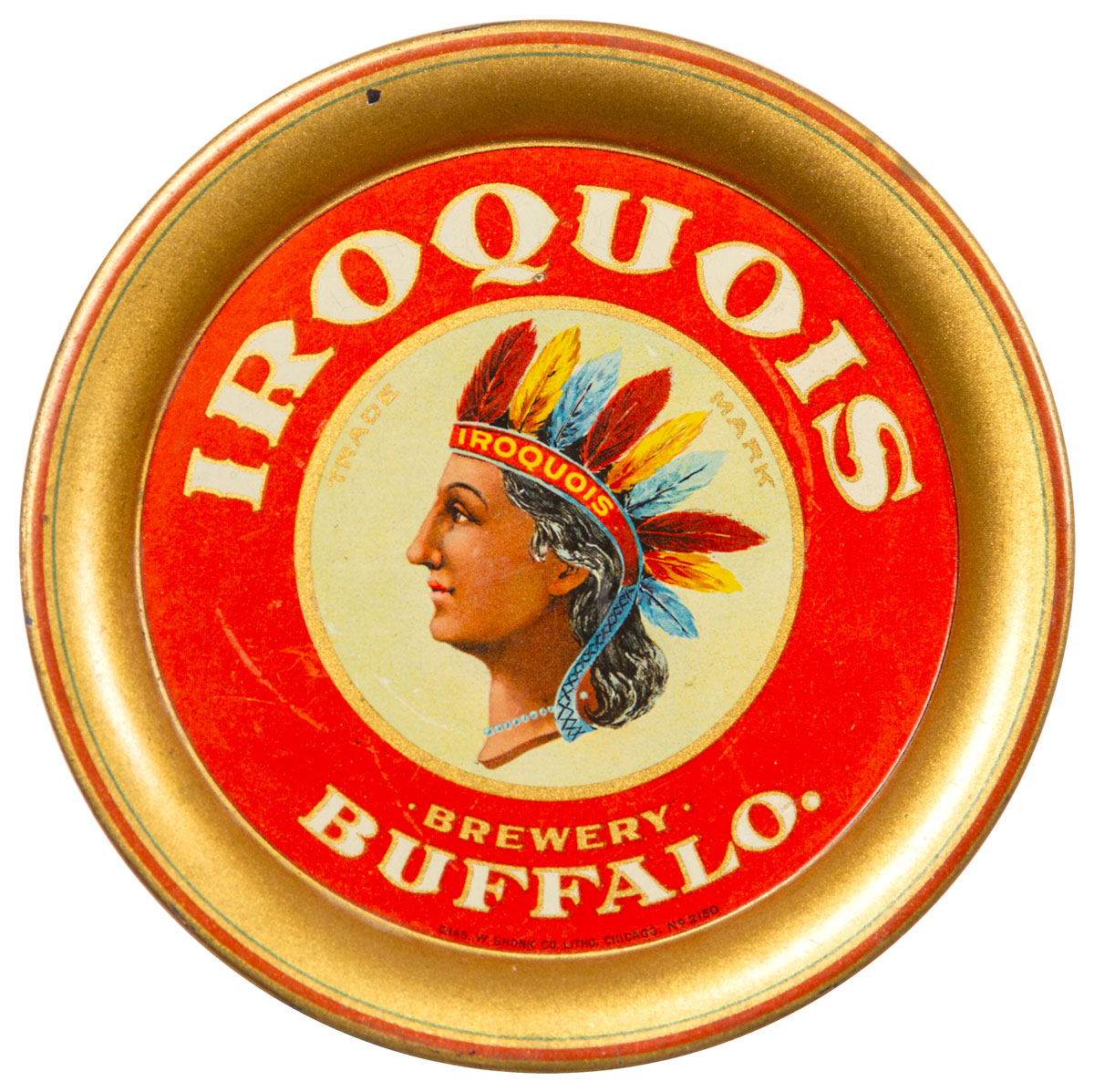 1920's Iroquois Beer Tip Tray Excellent