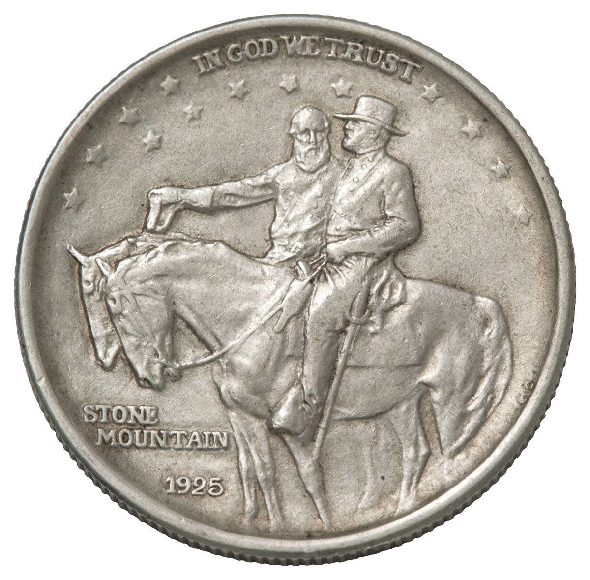 1925 Stone Mountain Memorial Commemorative Silver Half Dollar VF-XF