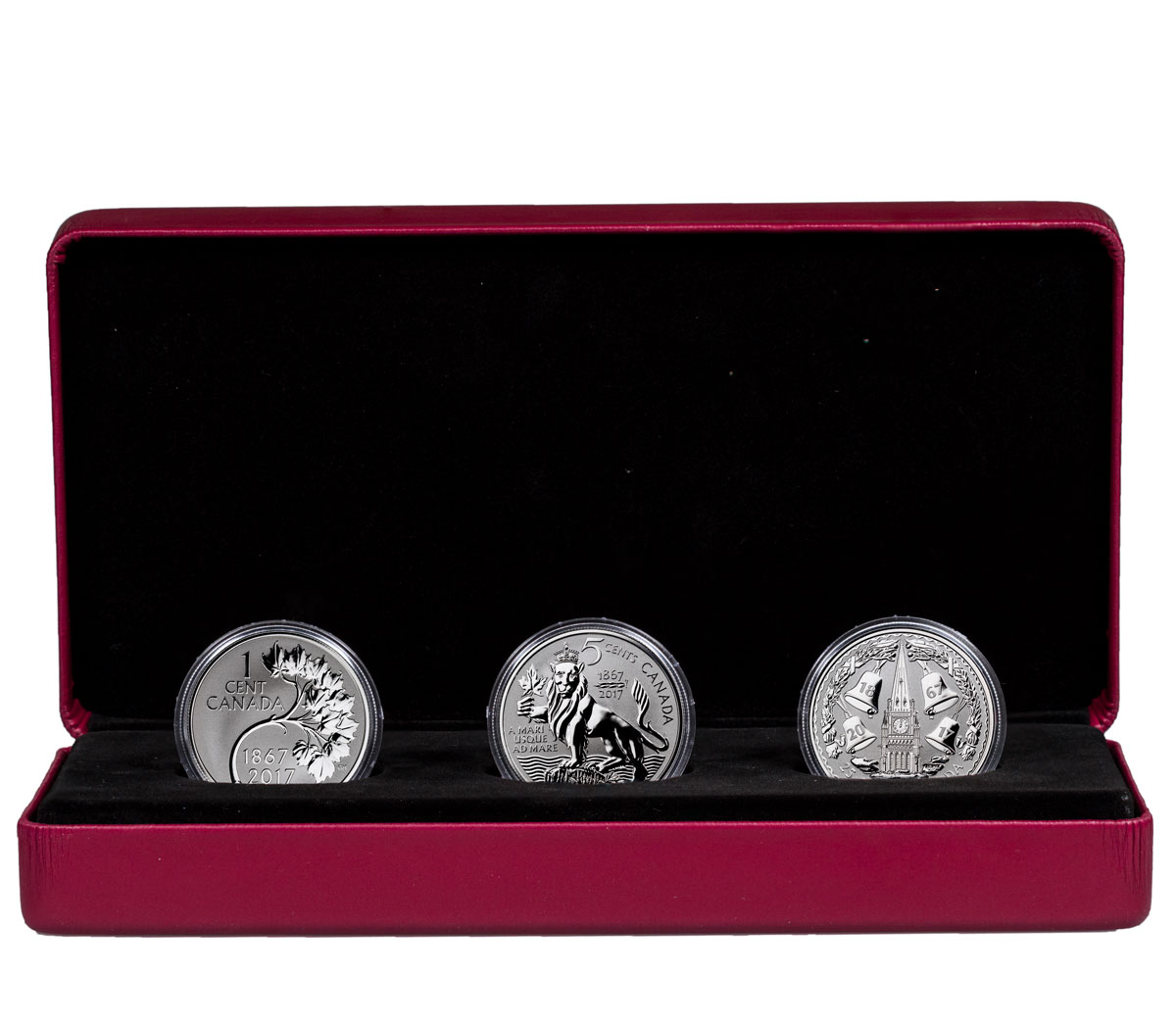 2017 Canada Coin Lore - The Forgotten 1927 Designs 3-Coin Set 1 oz Silver Reverse Proof Coin GEM Reverse Proof OGP
