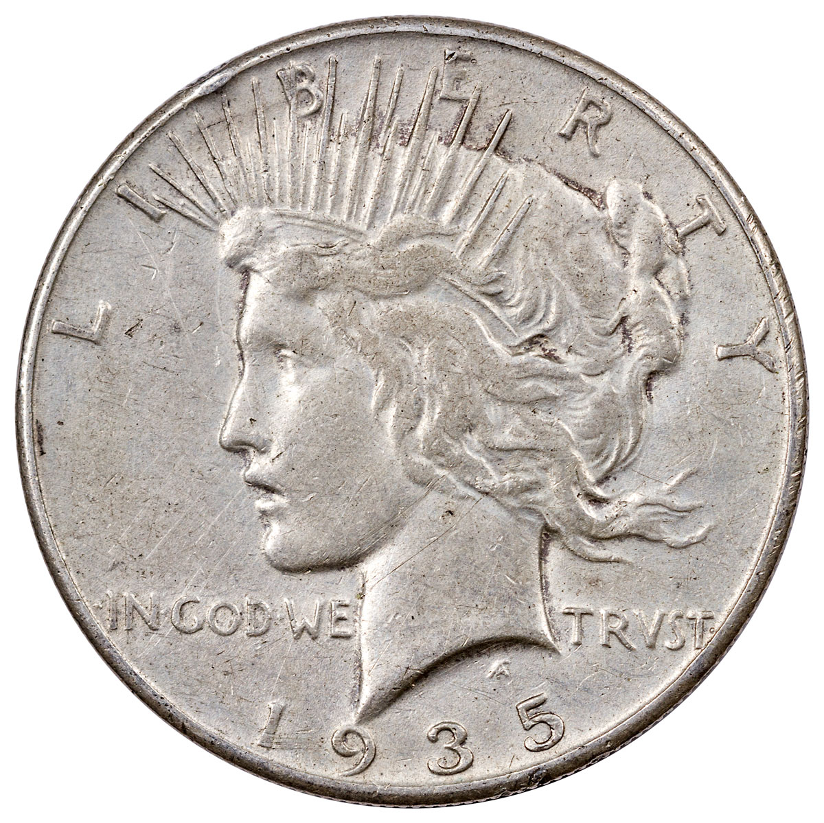 1935 Silver Peace Dollar XF
