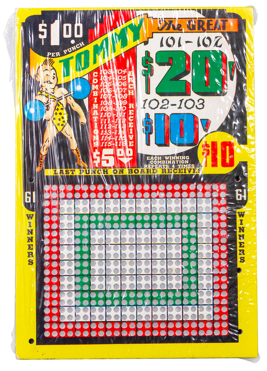 1940's Tommy the Great 1940's Punchboard Excellent
