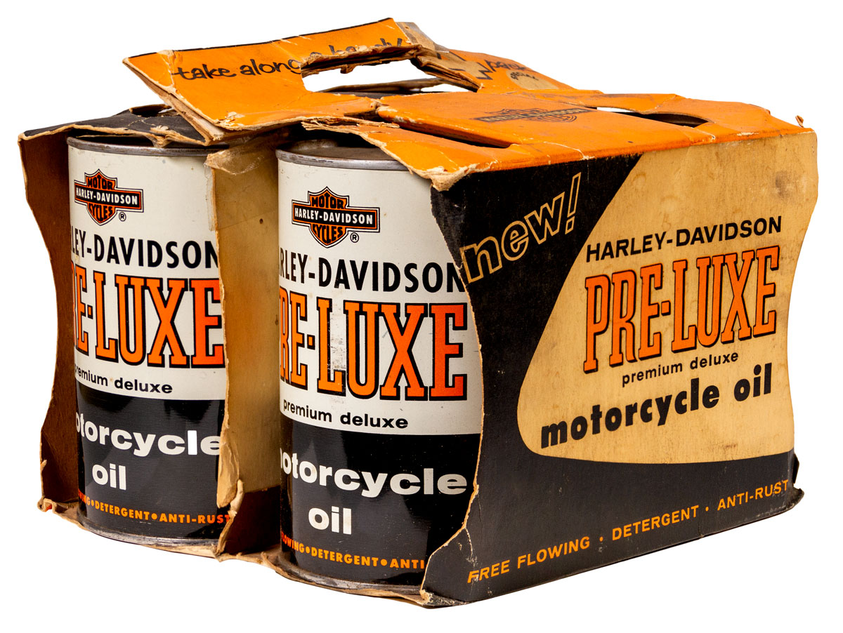 Harley Davidson 1950's 4 Pack Metal Oil Cans NOS in Carton