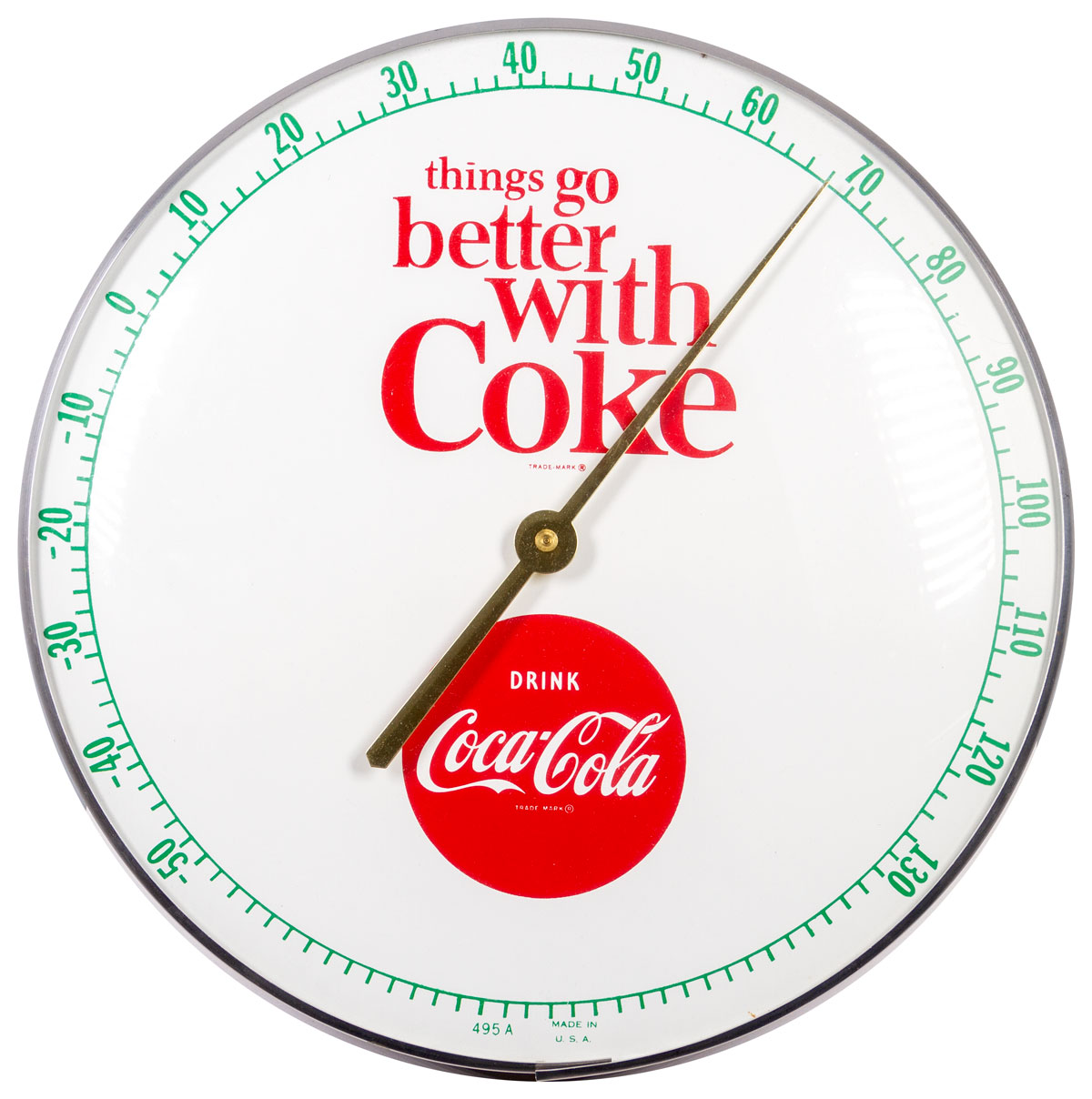 Coca-Cola 1960's Things are Better With Coke Thermometer