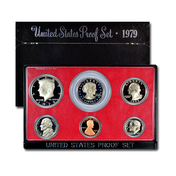 1979-S U.S. Proof Coin Set (Type 1) GEM Proof OGP