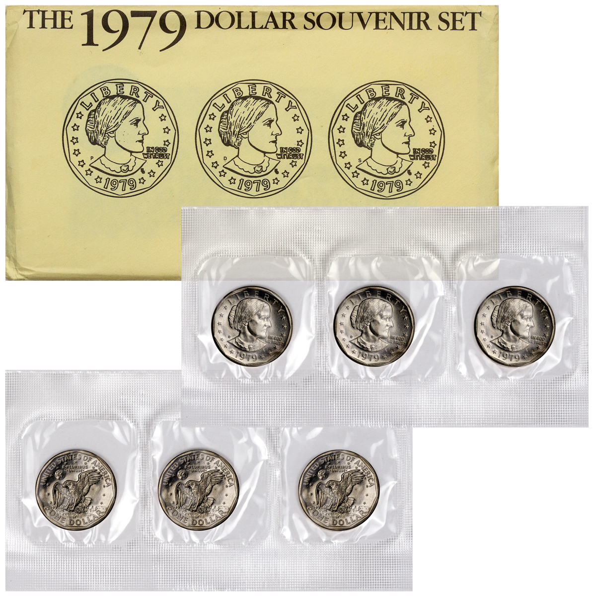 1979 Susan B. Anthony Dollar Souvenir Set - GEM BU (Original Mint Packaging)