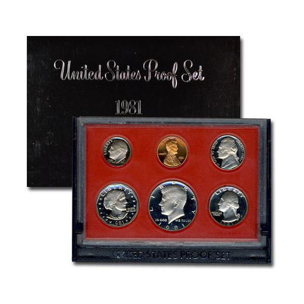 1981-S U.S. Proof Coin Set GEM Proof OGP