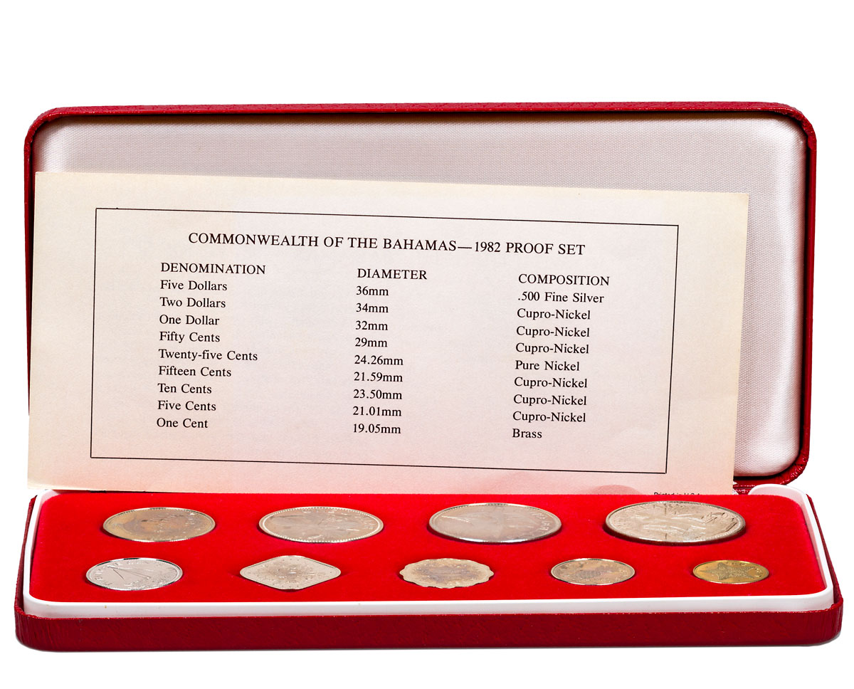 1982 Commonwealth of the Bahamas Proof Set in Mint Display Box