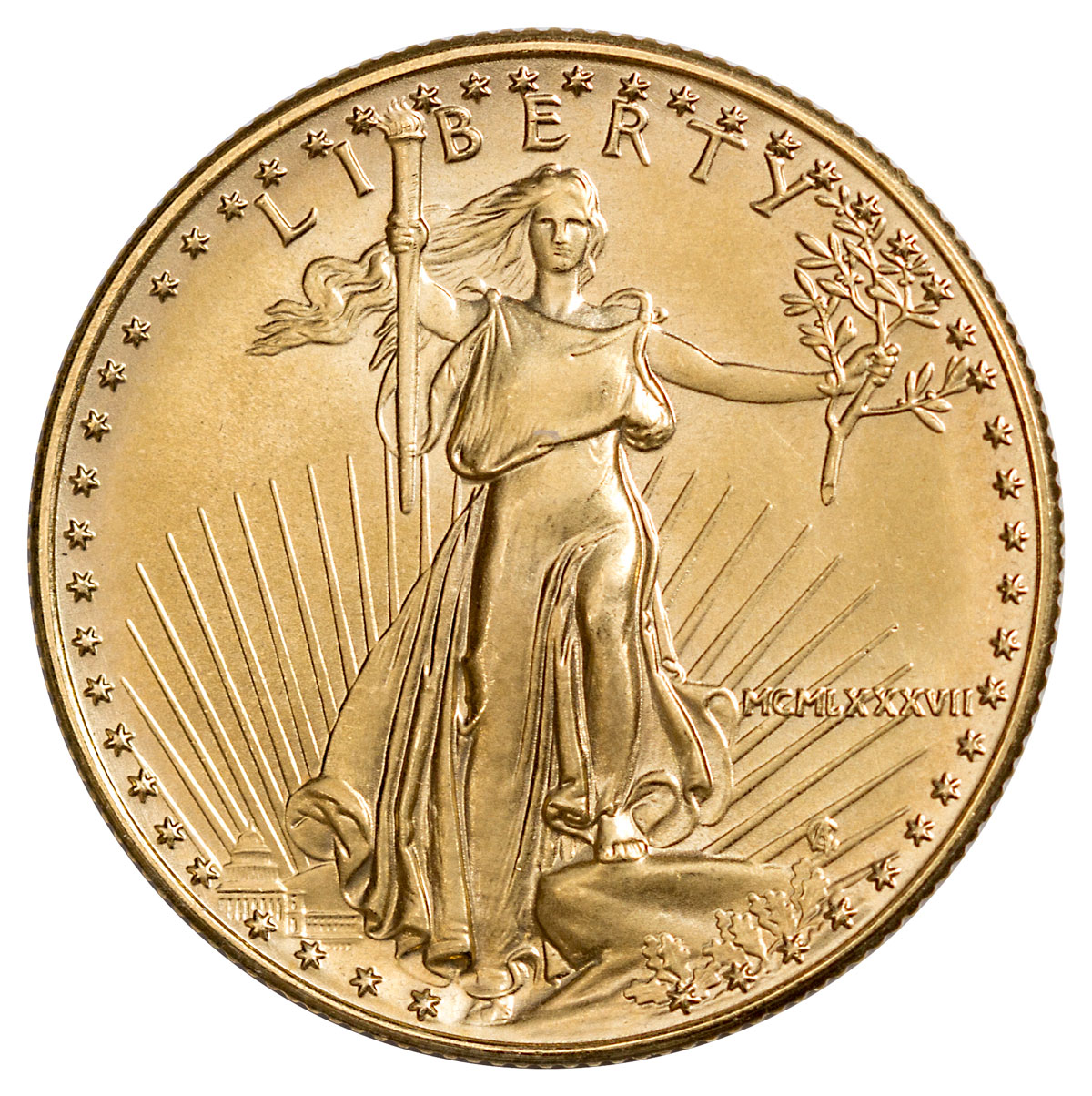 1987 1/2 oz Gold American Eagle $25