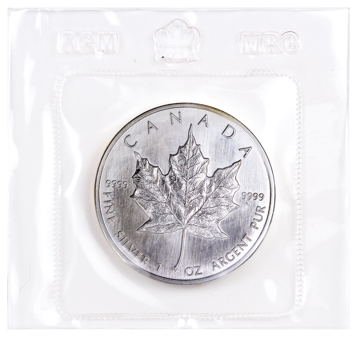 1989 Canada $5 1 oz. Silver Maple Leaf - GEM BU (Sealed in Original Mint Plastic)