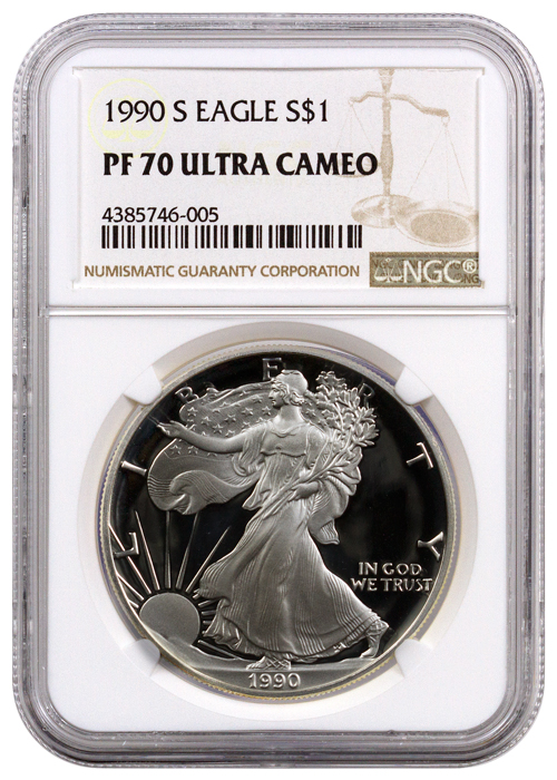 1990-S Proof American Silver Eagle | NGC PF70 UC