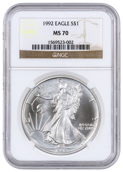 1992 American Silver Eagle Ngc Ms70 Moderncoinmart