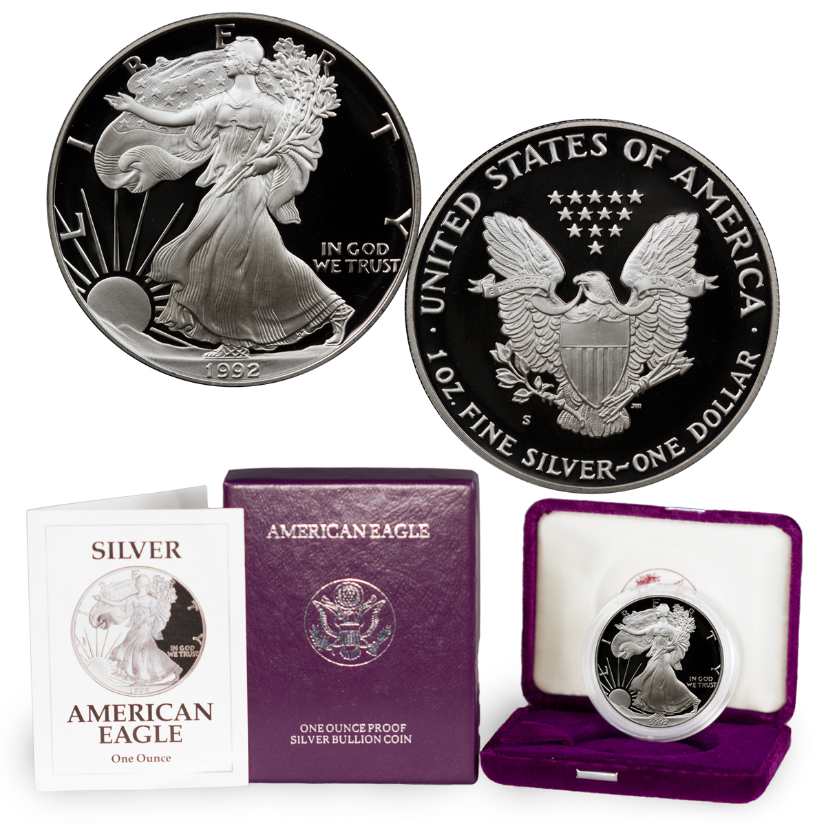 1992-S Proof American Silver Eagle (OGP)